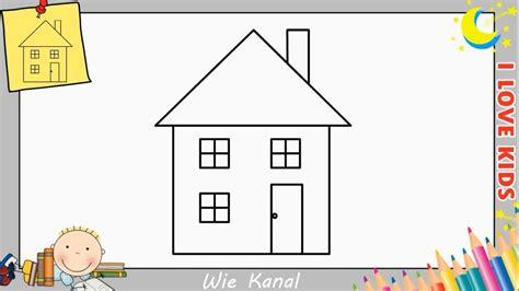 Haus Zeichnen Lernen by Wie Zeichnet Eine Haus Schritt F 252 R Schritt F 252 R