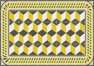 Set De Table Jaune : set de table carreaux de ciment eug nie jaune moutarde ~ Teatrodelosmanantiales.com Idées de Décoration