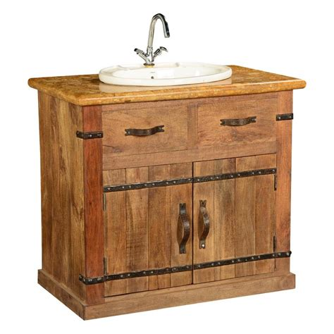 country farmhouse mango wood marble bathroom vanity cabinet