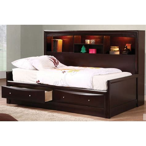 full storage bed with bookcase headboard modern full size storage bed with bookcase headboard