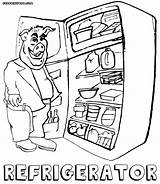 Refrigerator Coloring Pages Colorings sketch template