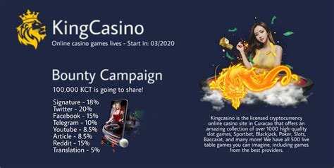 KingCasino ICO Bounty Campaign   ICO Bounty list