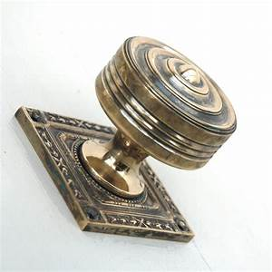 Brass Door Knobs with Square Backplate