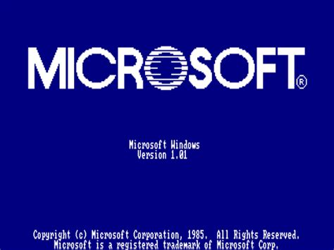 First Versions: Microsoft Windows