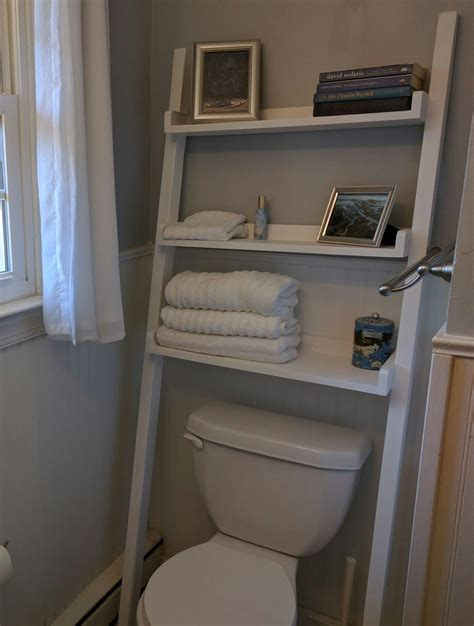 ana white leaning bathroom shelf diy projects