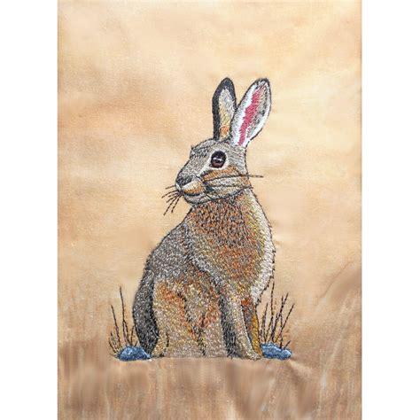 wildlife jack rabbit machine embroidery design