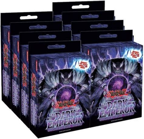 structure deck the dark emperor box of 8 decks sdde
