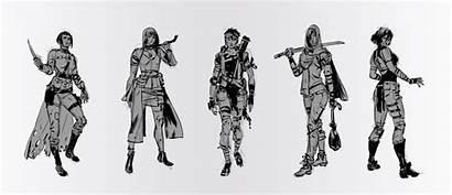 Apocalyptic Female Character Deviantart Apocalypse Characters Drawing