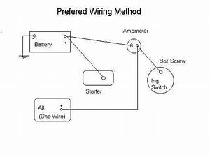 Using 3 Wire Alternator Wiring Diagram Ammeter