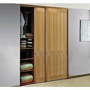 fabriquer porte de placard coulissante armoire rangement With fabriquer porte de placard en bois