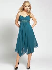 a line dresses for wedding guests spaghetti v neckline beaded band empire waist tea length wedding guest dresses sg2701 269 98