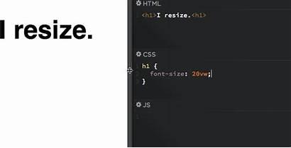 Font Css Screen Text Responsive Smaller Vw