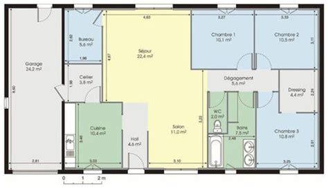 plan maison plain pied 3 chambres gratuit maison plain pied 1 dé du plan de maison plain pied