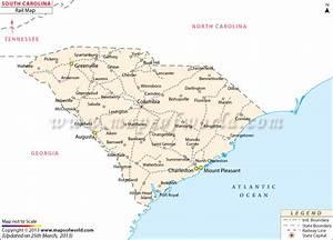 Buy South Carolina Rail Map