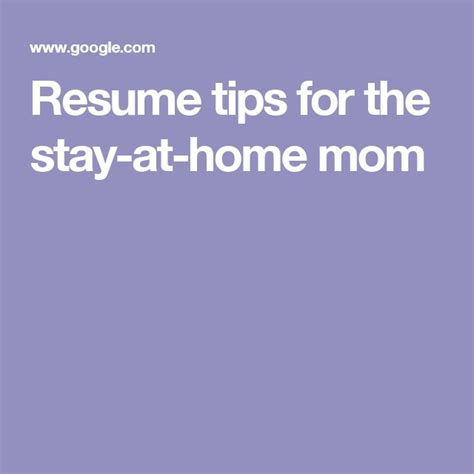 Stay At Home Resume Tips by 1000 Ideas About Resume Tips On Cover Letters Search And Interviews