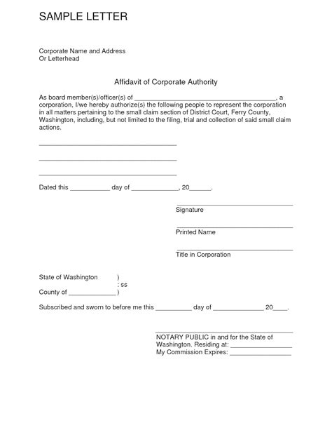Template Of An Affidavit by Affidavit Template Word Uk Templates Resume Exles