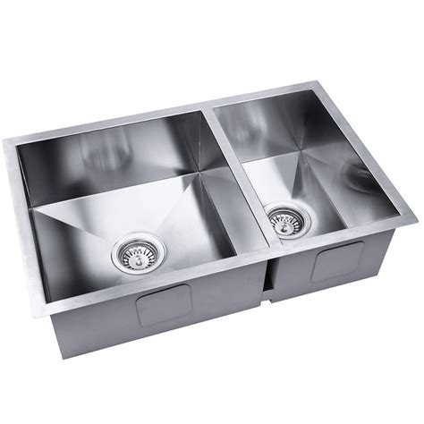 clearance kitchen sinks stainless steel kitchen laundry sink with strainer waste 2247