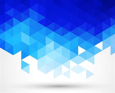blue abstract triangles background vector titanui