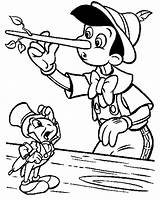Pinocchio Coloring Pages Cricket Jiminy Printable Long Nose Face Template Disney Printing Colouring Christmas Print Craft Getcolorings Colour Adults Getcoloringpages sketch template