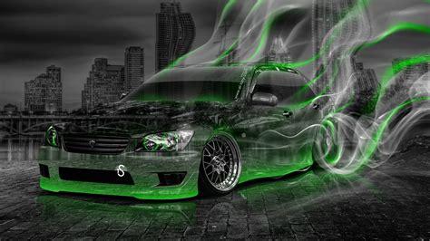 toyota altezza jdm crystal city smoke drift car  el tony