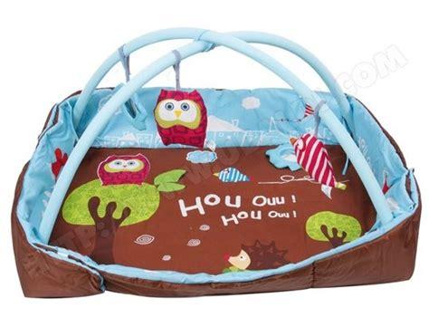 tapis d eveil bebe pas cher tapis d 233 veil ludi tapis d eveil chouette bleu 2873 pas cher ubaldi