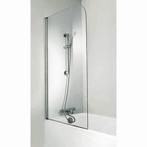 Paroi Douche Baignoire : pare baignoire fixe 1 volet krom castorama ~ Farleysfitness.com Idées de Décoration
