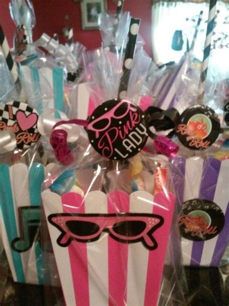 grease themed birthday party treat bags jilian