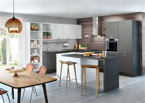 cuisine gris ardoise cuisine grise avec électroménagers cuisines contemporaines