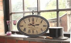 Große Wanduhr Vintage : xl gro e tischuhr wanduhr uhr shabby vintage antik landhaus bahnhofsuhr oval neu ebay ~ Indierocktalk.com Haus und Dekorationen