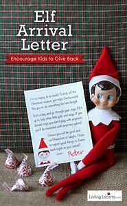 elf on shelf arrival letter