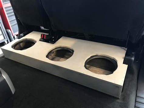 ford    rear seat subwoofer box installation