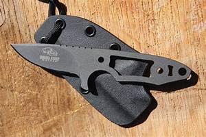 Neck Knife in Cobalt Cerakote   David Kurt Handmade Knives