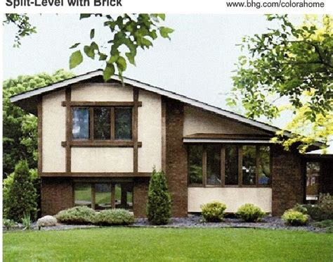 exterior paint brown natural colors number 4 has a brown roof pink beige and