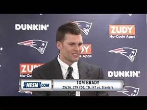 Tom Brady Week 15 Patriots vs. Steelers postgame press ...