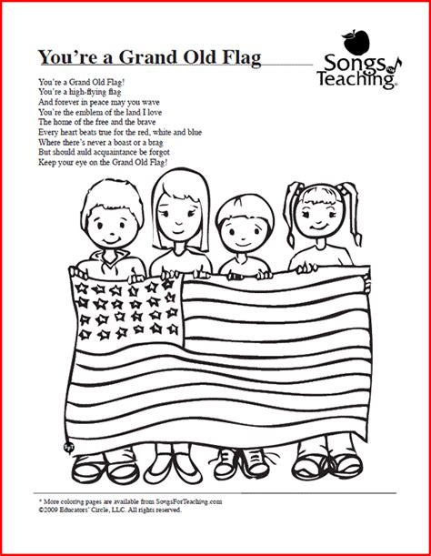 Coloring Song by You Re A Grand Flag Free Printable Coloring Page From
