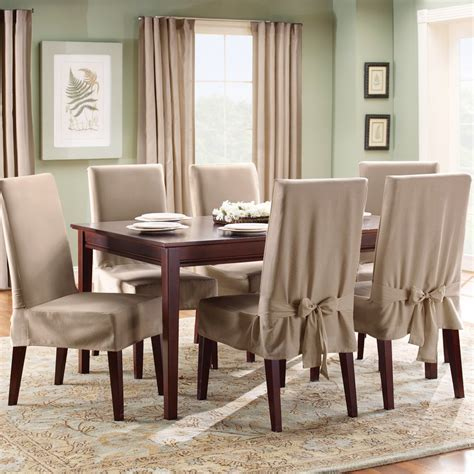 elegant slipcover  dining room chairs stylish