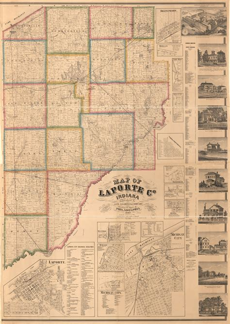 map  laporte  indiana library  congress