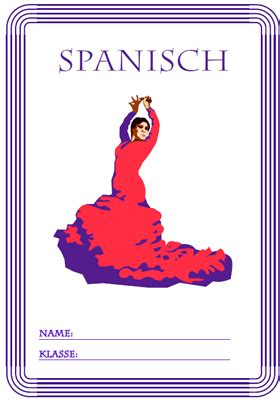 deckblatt spanisch ausdrucken