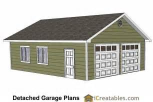 Diy 2 Car Garage Plans  24x26 & 24x24 Garage Plans