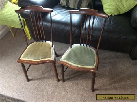 Pair Of 1920s Antique Children's Chairs For Sale In United