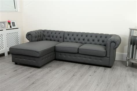 Chesterfield Corner Sofa Bed empire chesterfield corner sofa bed in grey pu leather