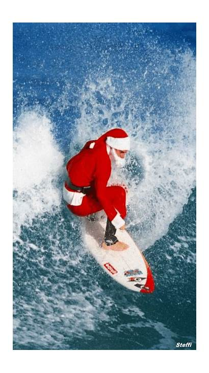 Christmas Santa Merry Happy Kalikimaka Mele Hawaiian