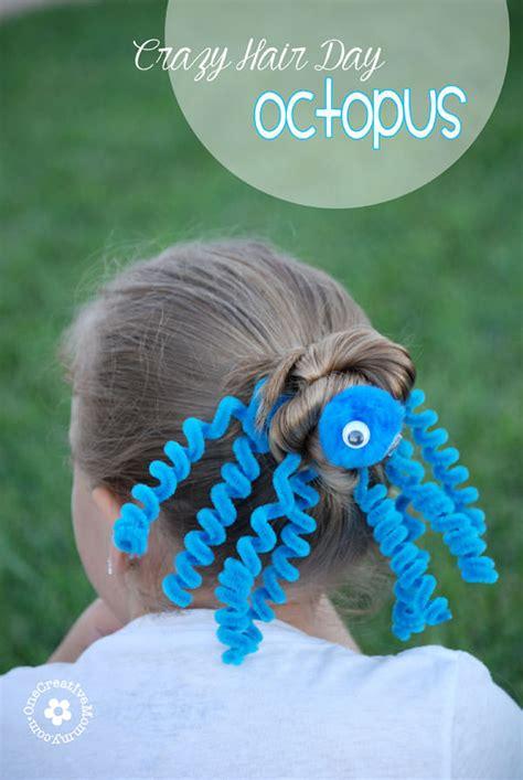 crazy hair day octopus hair idea onecreativemommycom