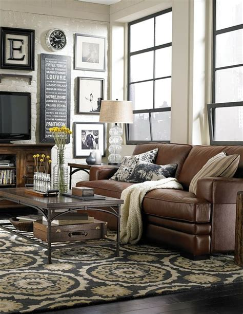 living room decor with leather sofa 24 best ideas for the house images on pinterest brown