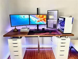 2020, Setup, Took, Me, 8, Hours, To, Complete, I, Know, Ikea, Karlby, Desk, Setup, Is, Common, Now, But, I, U0026, 39, M