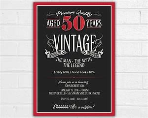 Free 50th Birthday Invitation Templates Printable 50th Birthday Invitation For Men Jpeg Printable Aged