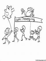 Thanksgiving Pages Parade Coloring Printable Others Holiday Site 1coloring Holidays sketch template