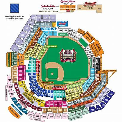 Stadium Busch Cardinals Louis St Seating Seat