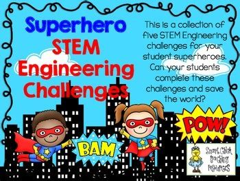 stem engineering challenge pack superhero challenges