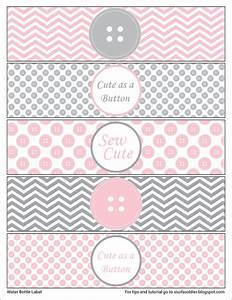 cute as a button water bottle labels printable by With how to make cute labels